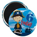 Cute Pirate Boy 6th Birthday Magnet