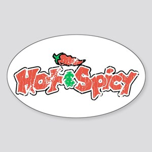 Hot & Spicy, Oval Sticker