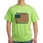 Owatonna US Flag Green T-Shirt