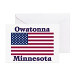 Owatonna US Flag Greeting Cards (Pk of 20)