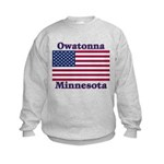 Owatonna US Flag Kids Sweatshirt