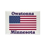 Owatonna US Flag Rectangle Magnet