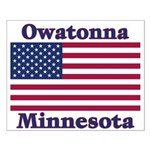 Owatonna US Flag Small Poster