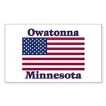 Owatonna US Flag Sticker (Rectangle 10 pk)
