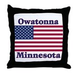 Owatonna US Flag Throw Pillow