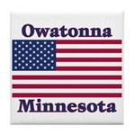 Owatonna US Flag Tile Coaster