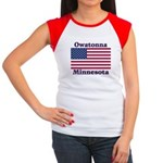 Owatonna US Flag Women's Cap Sleeve T-Shirt