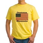 Owatonna US Flag Yellow T-Shirt