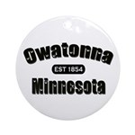 Owatonna Established 1854 Ornament (Round)