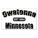 Owatonna Established 1854 Sticker (Rectangle)