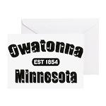 Owatonna Established 1854 Greeting Card