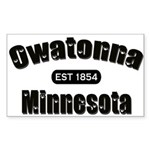 Owatonna Established 1854 Sticker (Rectangle 10 pk