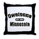 Owatonna Established 1854 Throw Pillow