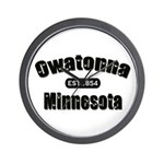 Owatonna Established 1854 Wall Clock