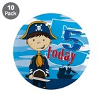 "Cute Pirate Boy 5th Birthday 3.5"" Button (10"