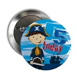 "Cute Pirate Boy 5th Birthday 2.25"" Button"