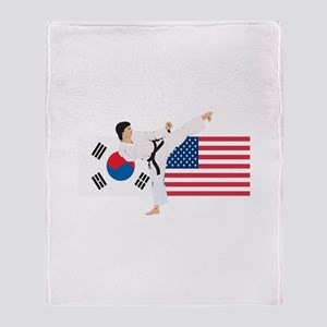 Karate Throw Blanket