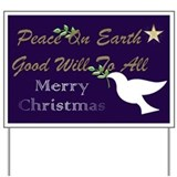 Christmas peace Yard Signs