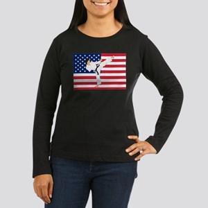 Karate Women's Long Sleeve Dark T-Shirt