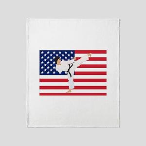 Karate Throw Blanket