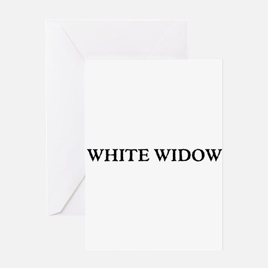 White Widow Greeting Cards