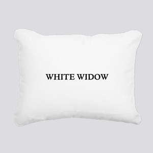 White Widow Rectangular Canvas Pillow