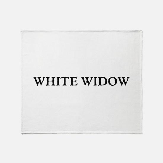 White Widow Throw Blanket