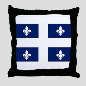 Quebec Flag Throw Pillow