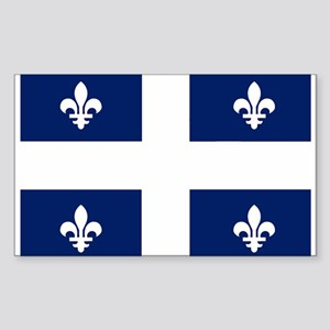 Quebec Flag Rectangle Sticker