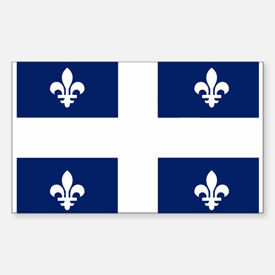 Quebec Flag Rectangle Decal