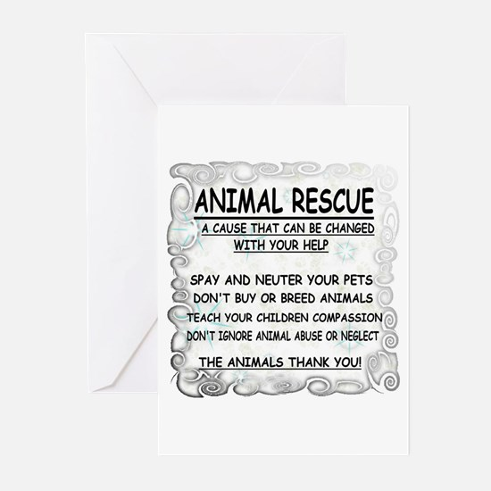 Unique Pets spayed or neutered Greeting Cards (Pk of 10)