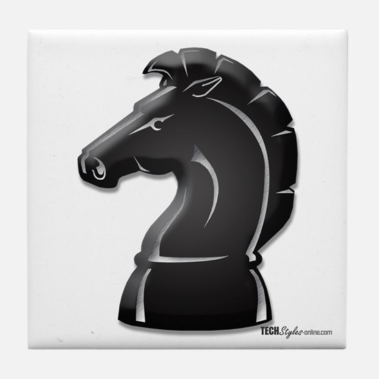 Chess Knight Tile Coaster