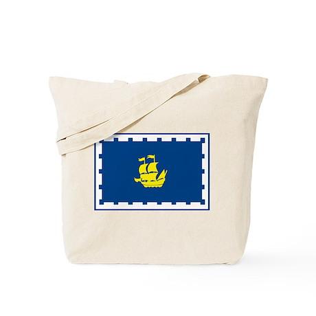 Quebec City Flag Tote Bag