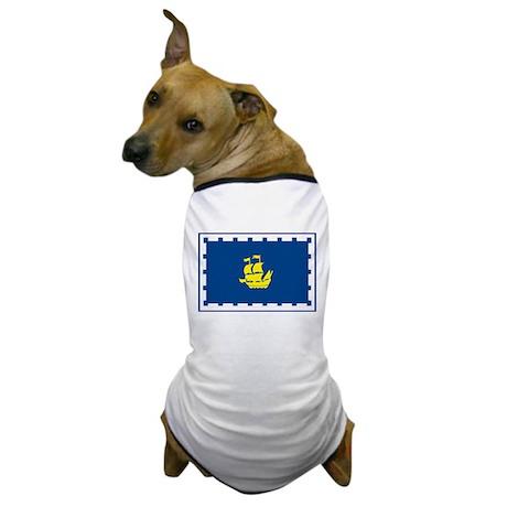 Quebec City Flag Dog T-Shirt