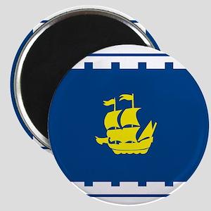 """Quebec City Flag 2.25"""" Magnet (10 pack)"""