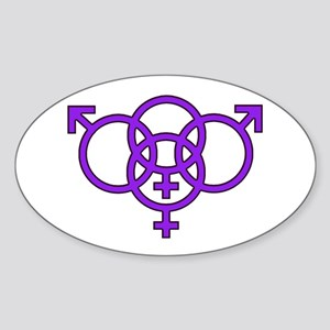 Swing Lifestyle Symbol Oval Sticker