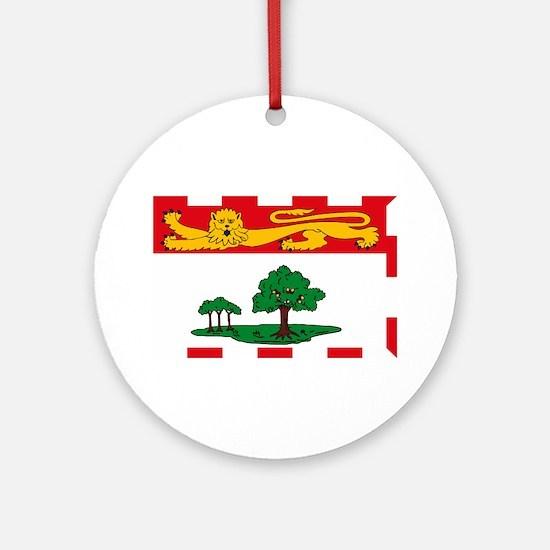 Prince Edward Island Flag Ornament (Round)