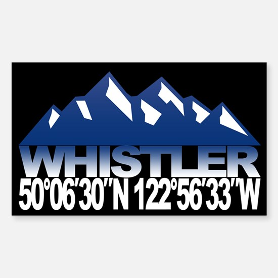 Whistler B.C. Sticker (Rectangle)