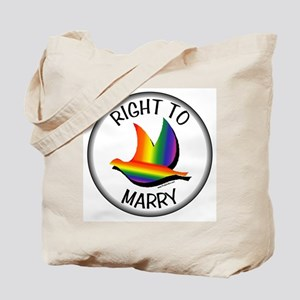 Gay Marriage Right to Marry Tote Bag