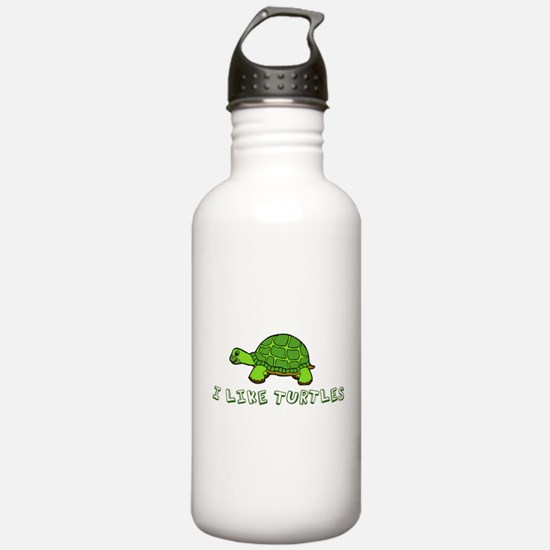I Like Turtles Water Bottle