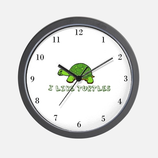I Like Turtles Wall Clock