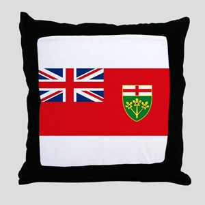 Ontario Flag Throw Pillow