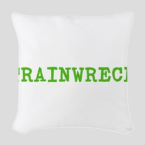 Trainwreck Woven Throw Pillow