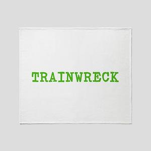 Trainwreck Throw Blanket