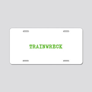 Trainwreck Aluminum License Plate