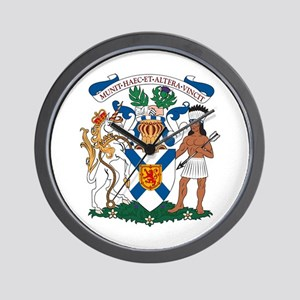 Nova Scotia Coat of Arms Wall Clock