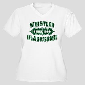 Whistler Blackcomb Old Green Women's Plus Size V-N