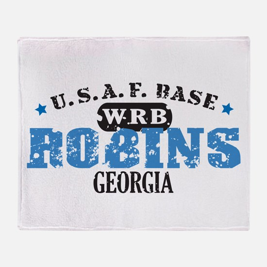 Robins Air Force Base Throw Blanket
