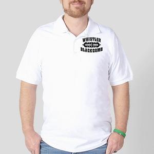 Whistler Blackcomb Old Black Golf Shirt