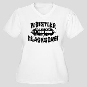 Whistler Blackcomb Old Black Women's Plus Size V-N